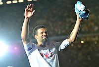 """Der Capitano bedankt sich bei den Fans beim Abschiedsspiel von Michael Ballack in der Red-Bull-Arena Leipzig. Unter dem Motto """"Ciao Capitano"""" bestreitet der Ex-Fussballprofi sein letztes großes Spiel mit Freunden in Leipzig gegen eine Auswahl von Wegbegleitern. <br /> Foto: Christian Nitsche"""