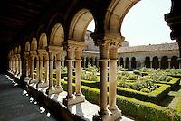 Kreuzgang in Kloster Las Huelgas, Burgos, Kastilien-León, Spanien
