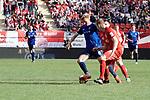 Dorian Diring (l.)  behauptet den Ball beim Spiel in der Regionalliga Suedwest, Kickers Offenbach - SV Waldhof Mannheim.<br /> <br /> Foto &copy; PIX-Sportfotos *** Foto ist honorarpflichtig! *** Auf Anfrage in hoeherer Qualitaet/Aufloesung. Belegexemplar erbeten. Veroeffentlichung ausschliesslich fuer journalistisch-publizistische Zwecke. For editorial use only.