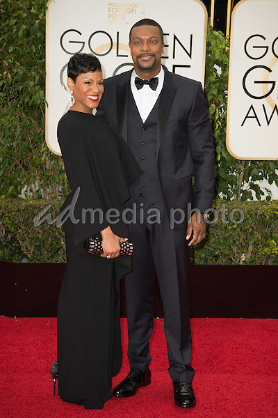 Actor Chris Tucker and guest attend the 73rd Annual Golden Globes Awards at the Beverly Hilton in Beverly Hills, CA on Sunday, January 10, 2016. Photo Credit: HFPA/AdMedia