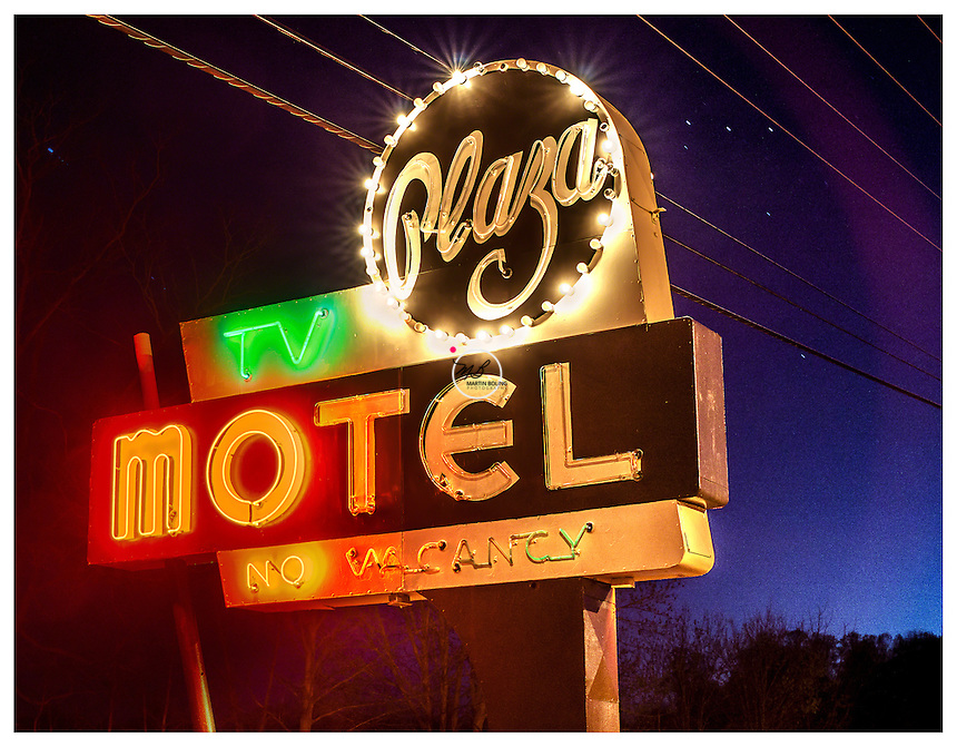 Plaza Motel Sign