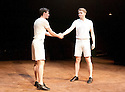 Chariots of Fire adapted from the film by Mike Bartlett ,directed by Edward Hall. With James McArdle as Harold Abrahams, Jack Lowden as Eric Liddell .  Opens at The Hampstead Theatre  on 22/5/12 .CREDIT Geraint Lewis