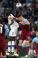 Cheikhou Kouyate of Crystal Palace and Declan Rice of West Ham United during West Ham United vs Crystal Palace, Premier League Football at The London Stadium on 5th October 2019