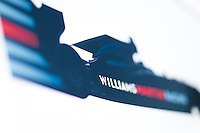 March 14, 2014: Signage at the Williams Martini Racing team garage at the 2014 Australian Formula One Grand Prix at Albert Park, Melbourne, Australia. Photo Sydney Low.
