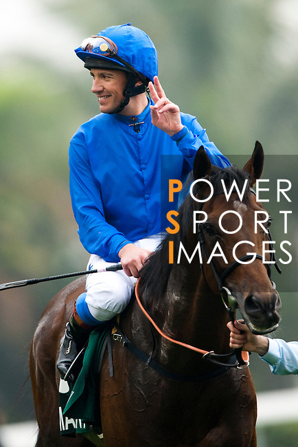 HONG KONG - DECEMBER 12:  Italian jockey Frankie Dettori riding Mastery wins the Cathay Pacific Hong Kong Vase during the Cathay Pacific International Races at the Sha Tin Racecourse on December 12, 2010 in Hong Kong, Hong Kong. Photo by Victor Fraile / The Power of Sport Images