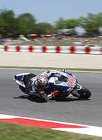 15.06.2013 Barcelona, Spain. Aperol  Catalonia Grand Prix. Picture show JOrge Lorenzo ridding Yamaha during MotoGP qualifyng at Circuit de Catalunya