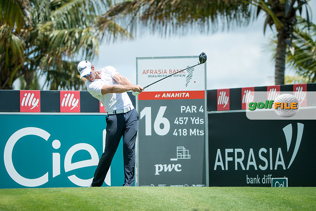 Tyrone Ryan (RSA) during the 3rd round of the AfrAsia Bank Mauritius Open, Four Seasons Golf Club Mauritius at Anahita, Beau Champ, Mauritius. 01/12/2018<br /> Picture: Golffile | Mark Sampson<br /> <br /> <br /> All photo usage must carry mandatory copyright credit (© Golffile | Mark Sampson)
