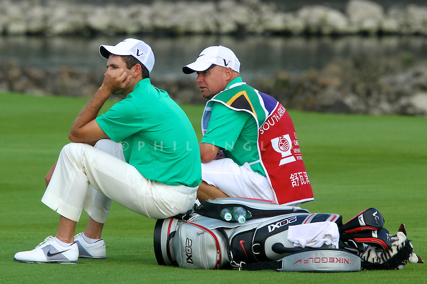 Charl Schwartzel (RSA) in action during the final round of the Omega Mission Hills World Cup played at The Blackstone Course, Mission Hills Golf Club on November 27th in Haikou, Hainan Island, China.( Picture Credit / Phil Inglis )