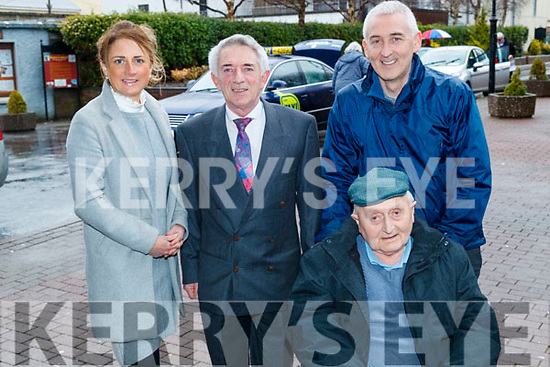 Aisling O'Connor and Derry Fleming (Tralee Credit Union) with Pat Moynihan and Michael Moynihan (Ballyseedy), pictured at the Tralee Credit Union 50th Anniversary Mass, in St. John's Church, on Sunday morning last.
