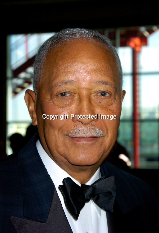 David  Dinkins ..at the Arthur Ashe Institute for Urban Health Sportsball 2004 on April 29, 2004 at PIer Sixty at Chelsea PIers. ..People were told to wear Blcak tie and sneakers. ..Photo by Robin Platzer, Twin Images