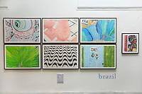 BRAZIL. DRAWING GRID.Judy Byron Continental Drift at the Katzen Museum <br /> American University, Washington DC.   <br /> Photo ©Rick Reinhard 2014