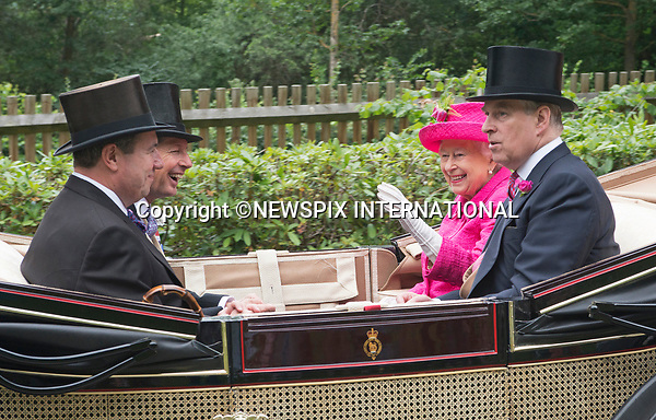 22.06.2017; Ascot, UK: QUEEN ELIZABETH AND PRINCE ANDREW<br />