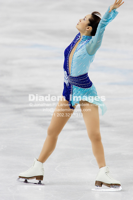 TURIN, ITALY - FEBRUARY 23:  Shizuka Arakawa of Japan performs her free skating routine during the Ladies Figure Skating competition at the Winter Olympics on February 23, 2006 in Turin, Italy.  Arakawa won gold in the event.  Editorial use only.  Commercial use prohibited.  (Photograph by Jonathan P. Larsen)
