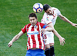 Atletico de Madrid's Gabi Fernandez (l) and Sevilla FC's Sergio Escudero during La Liga match. March 19,2017. (ALTERPHOTOS/Acero)