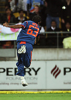 India's Irfan Pathan misses a catch during 2nd Twenty20 cricket match match between New Zealand Black Caps and West Indies at Westpac Stadium, Wellington, New Zealand on Friday, 27 February 2009. Photo: Dave Lintott / lintottphoto.co.nz