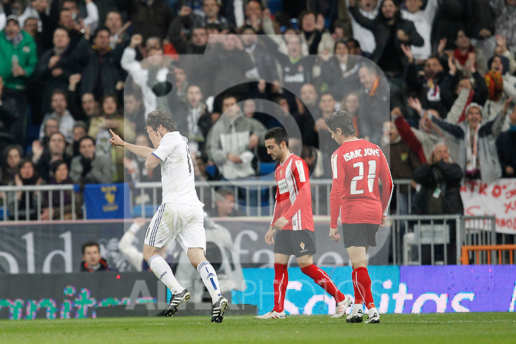MADRID (10/11/2010).- Real Madrid's Esteban Granero celebrates goal during Spanish King's Cup match. ..Photo: Cesar Cebolla / ALFAQUI