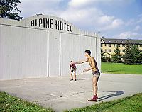 Alpine Hotel, Ellenville, NY. Two men playing handball.