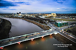 Photo of Little Miami River & Stewart Street bridge Dayton ohio.
