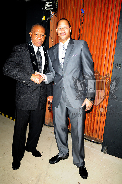 """MIAMI, FL - MAY 12: Lenny Williams and Lorenzo """"Ice Tea"""" Thomas performs during 2nd Annual Mother Day Concert at James L. Knight Center on May 12, 2013 in Miami, Florida. (Photo by Johnny Louis/jlnphotography.com)"""