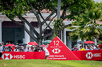 Minjee Lee of Australia in act during day 4 of HSBC Women's World Championship 2018 at Sentosa Golf Club, Sentosa,, Singapore, on 4  March 2018, Singapore.  Photo by : Ike Li / Prezz Images