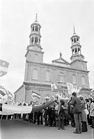 Marche lors de le Journee nationale des patriotes, le 21 mai 1973, St-Eustache<br /> <br /> PHOTO :  Agence Quebec Presse - Alain Renaud