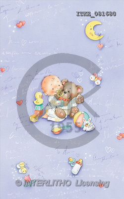 Isabella, BABIES, paintings, baby, bear(ITKE081680,#B#) bébé, illustrations, pinturas ,everyday