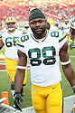 August 26 2016: Wide Receiver and Kickoff Returner Ty Montgomery of the Green Bay Packers during the Green Bay Packers during a 21-10 victory over the San Francisco 49ers at Levi's Stadium in Santa Clara, Ca.