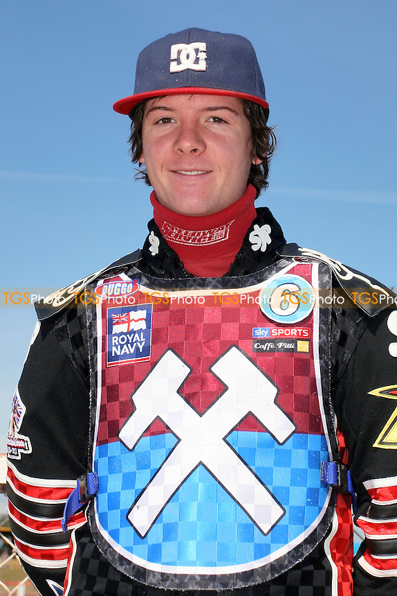Kyle Howarth of Lakeside Hammers - Lakeside Hammers vs Eastbourne Eagles - Sky Sports Elite League Speedway at Arena Essex Raceway, Purfleet - 06/04/12 - MANDATORY CREDIT: Gavin Ellis/TGSPHOTO - Self billing applies where appropriate - 0845 094 6026 - contact@tgsphoto.co.uk - NO UNPAID USE.