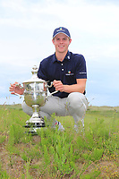 Martin Vorster (RSA) after winning the East of Ireland Co Louth Golf Club, Louth, Ireland. 03/06/2019.<br /> Picture Fran Caffrey / golffile.ie<br /> <br /> <br /> All photo usage must carry mandatory copyright credit (© golffilefile | Fran Caffrey)