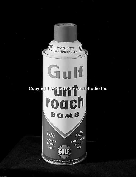 Pittsburgh PA:  Studio Photography of a Gulf Ant Roach Bomb Can for a product catalog - 1962.