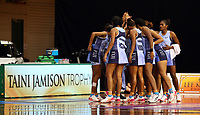 21.02.2018 Fiji in action during the Jamaica v Fiji Taini Jamison Trophy netball match at the North Shore Events Centre in Auckland. Mandatory Photo Credit ©Michael Bradley.