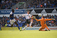 Swansea City's Bersant Celina takes a shot at goal<br /> <br /> Photographer Hannah Fountain/CameraSport<br /> <br /> The EFL Sky Bet Championship - Ipswich Town v Swansea City - Monday 22nd April 2019 - Portman Road - Ipswich<br /> <br /> World Copyright © 2019 CameraSport. All rights reserved. 43 Linden Ave. Countesthorpe. Leicester. England. LE8 5PG - Tel: +44 (0) 116 277 4147 - admin@camerasport.com - www.camerasport.com