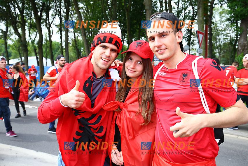Tifosi Albania Supporters <br /> Lens 11-06-2016 Stade Bollaert-Delelis football Euro2016 Albania - Switzerland  / Albania - Svizzera Group Stage Group A. Foto Panoramic / Insidefoto