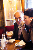 ITALY, Venice. Actor Peter Weller having drinks with his wife Shari Stowe at Caffe Florian.