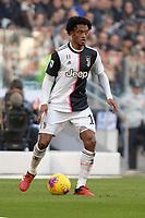 2nd February 2020; Allianz Stadium, Turin, Italy; Serie A Football, Juventus versus Fiorentina; Juan Cuadrado of Juventus on the ball