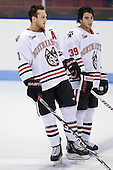 Anthony Bitetto (Northeastern - 7), Rob Dongara (Northeastern - 39) - The visiting St. Francis Xavier University X-Men defeated the Northeastern University Huskies 8-5 on Sunday, October 2, 2011, at Matthews Arena in Boston, Massachusetts.