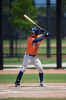 Houston Astros Alfredo Angarita (51) bats during a Minor League Spring Training Intrasquad game on March 28, 2019 at the FITTEAM Ballpark of the Palm Beaches in West Palm Beach, Florida.  (Mike Janes/Four Seam Images)