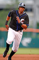 June 29, 2009:  Third Baseman Javier Castillo of the Buffalo Bisons runs the bases during a game at Coca-Cola Field in Buffalo, NY.  The Bisons are the International League Triple-A affiliate of the New York Mets.  Photo by:  Mike Janes/Four Seam Images