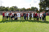 STANFORD, CA - NOVEMBER 6: Senior Day before Stanford vs UCLA in a men's soccer match on November 6, 2011 in Stanford, California.  UCLA won 3-0.