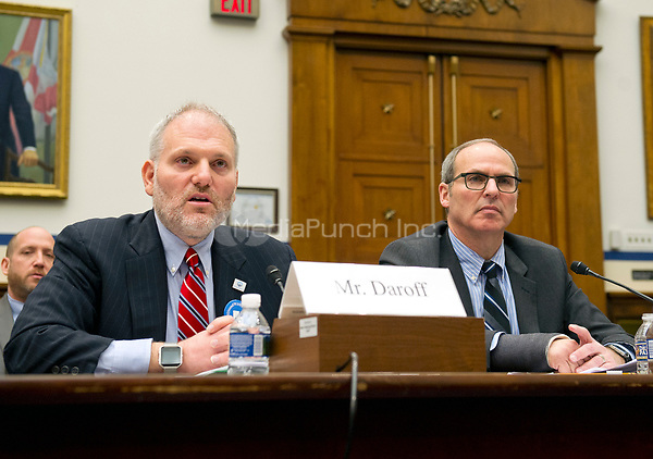 William Daroff, Senior Vice President for Public Policy and Director of the Washington Office, Jewish Federations of North America; and Michael Feinstein, the CEO of the Bender Jewish Community Center, Rockville, Maryland, who&rsquo;s facility has been the target of two recent bomb threats, testify before the US House Committee on Homeland Security on Thursday, March 16, 2017. In his remarks, Daroff highlighted the importance of FEMA&rsquo;s Nonprofit Security Grant Program to protect Jewish institutions amidst unprecedented levels of anti-Semitism in recent months and briefed the committee on bomb threats and other acts of anti-Semitism.  &ldquo;Since Sept. 11, non-profits, in general, and Jewish communal institutions, in particular, have been targeted by international terrorist organizations and home grown violent extremists from across the ideological spectrum.&rdquo;  &ldquo;Since January 1, at least 116 Jewish communal institutions, including community centers, schools, places of worship, and others have received more than 160 bomb threats in 39 states.&rdquo;<br /> Credit: Ron Sachs / CNP /MediaPunch