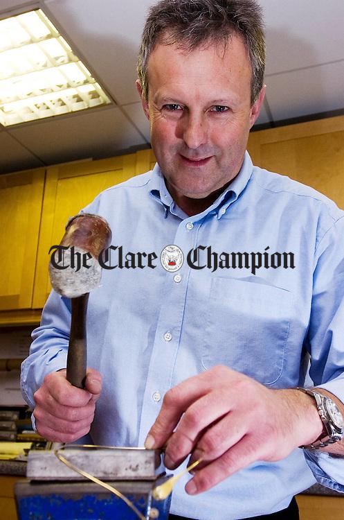 Jeweller brian Gleeson, Ballycasey Craft Centre Shannon.Pic Arthur Ellis.