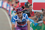 Polka Dot Jersey Angel Madrazo Ruiz (ESP) Burgos-BH wins Stage 5 of La Vuelta 2019 running 170.7km from L'Eliana to Observatorio Astrofisico de Javalambre, Spain. 28th August 2019.<br /> Picture: Colin Flockton | Cyclefile<br /> <br /> All photos usage must carry mandatory copyright credit (© Cyclefile | Colin Flockton)