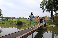 Mikko ILONEN (FIN) crosses the footbridge to the 2nd tee during Thursday's Round 1 of the 2014 PGA Championship held at the Valhalla Club, Louisville, Kentucky.: Picture Eoin Clarke, www.golffile.ie: 7th August 2014