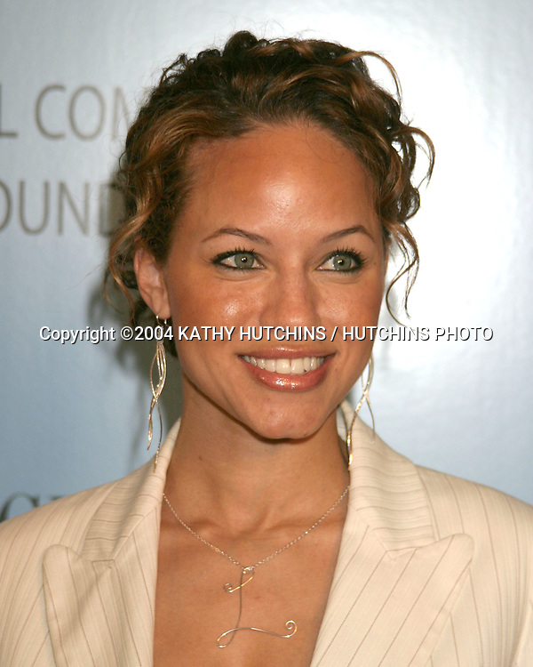 ©2004 KATHY HUTCHINS /HUTCHINS PHOTO.Michel Comte Water Foundation Event.Ace Gallery.Beverly Hills, CA.FEBRUARY 25, 2004..LEILA ARCIERI
