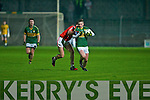 Padraig O'Se Kerry under 21 in action against Mark Sugerue Cork in the Cabury Munster U21 Quarter Finals 2014 at Austin Stack Park, Tralee on Wednesday night