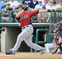 15 March 2009: Jason Michaels of the Houston Astros hits during a game against the Atlanta Braves at the Braves' Spring Training camp at Disney's Wide World of Sports in Lake Buena Vista, Fla. Photo by:  Tom Priddy/Four Seam Images