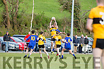 Denis Walsh Listowel claims the kickout  during their JC clash in Beaufort Saturday evening