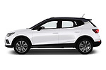 Car driver side profile view of a 2018 Seat Arona Xcellence 5 Door SUV