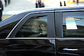 Vice President Joe Biden waves from his limousine as he leaves Capitol Hill in Washington, Monday, Jan. 21, 2013, heading to the inaugural parade following a ceremonial swearing-in ceremony during the 57th Presidential Inauguration. .Credit: Linda Davidson / Pool via CNP
