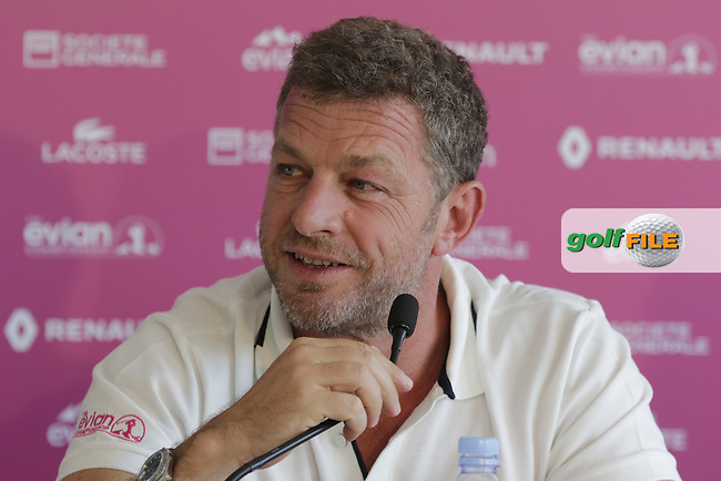 Jacques Bungert Vice President Evian Championship at the opening press conference during Wednesday's Pro-Am of the LPGA 2015 Evian Championship, Evian les Bains, France. 09/09/2015.<br /> Picture Eoin Clarke | Golffile